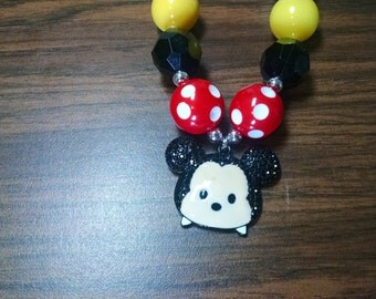 Mickey Mouse Tsum Tsum Disney Inspired Toddler Bubblegum Necklace