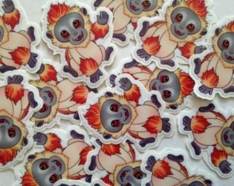 Baby Monkey Vinyl Sticker