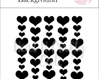 mobile hearts Background cut file. For scrapbooking and paper crafting