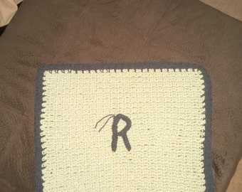 Baby Lap Blanket with initial
