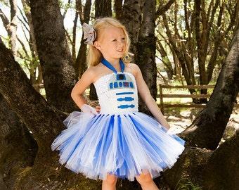 R2D2 tutu dress - Star Wars birthday party - R2D2 costume - tutu dress - R2D2 costume - star wars tutu dress - bb8 - darth vader - yoda