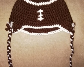 Crochet Football Hat