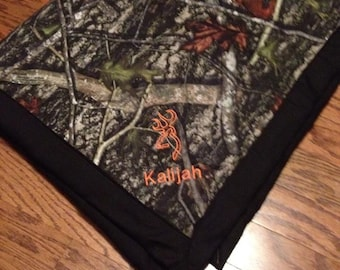 Personalized camo baby blanket