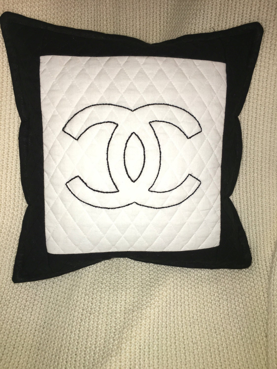 Chanel Decorative Throw Pillow by MiasBoutique414 on Etsy