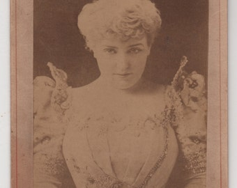 Lillian Russell Cabinet Photo