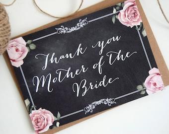 Chalkboard Wedding Bride & Grooms Parent Thank You Cards