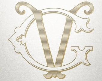 Premade Logo Monogram - GV VG - Premade Logo - Digital