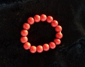 Red Wooden Bracelet