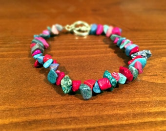 Handmade Multicolored Rock Anklet