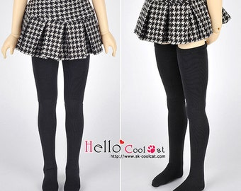 SD/DD Thigh-High Doll Stockings # Black/White