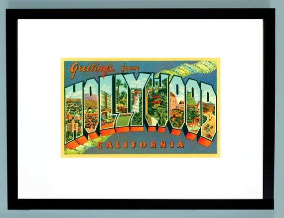 Hollywood, Hollywood Postcard, Hollywood Sign, Hollywood ...