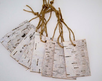 10 Natural Birch Bark Tags Favor tags Thank you tags Wedding Favors Gift tags Rustic Wedding Gift tag Rustic Decor wooden Rustic Tags