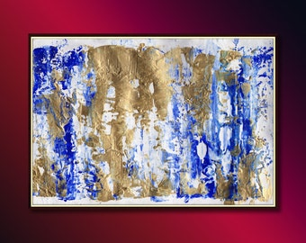 Abstract Painting, modern abstract acrylic painting, absract painting ready to hang: modern painting wall art, Impressionistic Art Painting