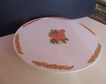 """Vintage Wind-Up """"Happy Birthday"""" Musical Cake Plate, 1950's"""