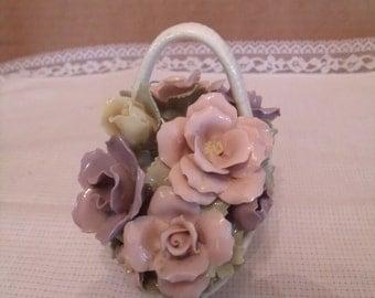 Bone china porcelain Flower Basket, (# 224/10)