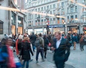 Fotografia Oxford Street, fotografia Londra, fotografia di viaggio, fotografia Fine Art