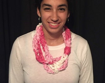 Red Heart Sashay Chain Scarf Necklace