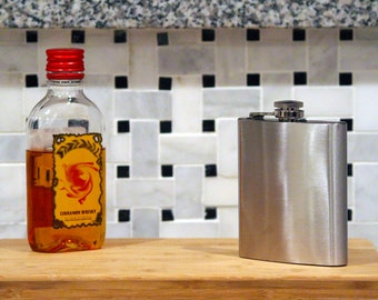 7oz Stainless Steel Flask (with optional personalization/engraving)