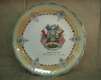 D.E. McNicol WWI Commemorative Plate Antique