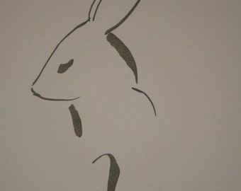 Hare Line Drawing