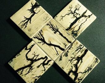 Wood Coasters - Fractal