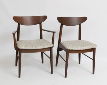 Set of 6 Danish Modern Mid Century Chairs