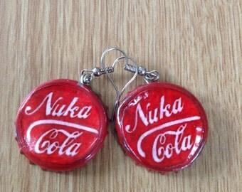 Nuka Cola cap earrings