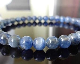 Genuine Blue KYANITE bead bracelet (On Stretch) AAA Quality 6mm for Men or Women