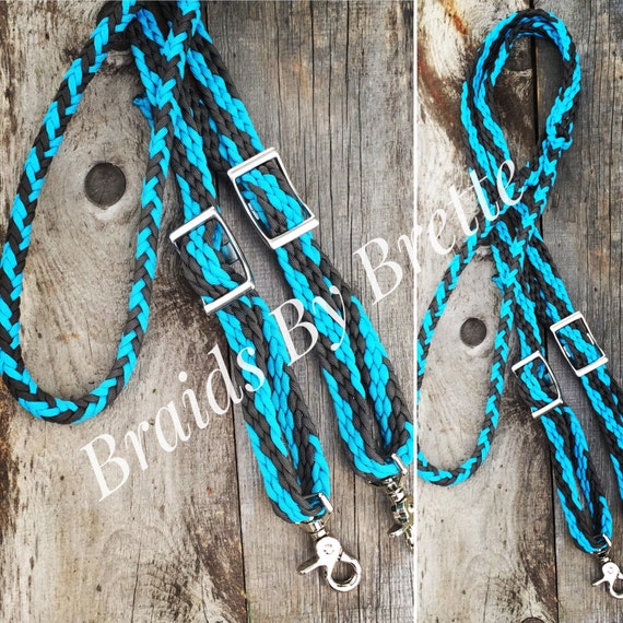 Paracord horse tack barrel reins for Paracord horse bridle