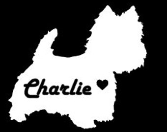 Westie Car Decal, Westie Decal, Dog Car Decal, Pet Car Decal, Laptop Decal