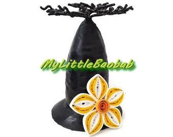 Magnet Quilling Frangipani Flower White Yellow Orange