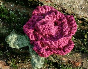 Hand Knitted Flower Brooch
