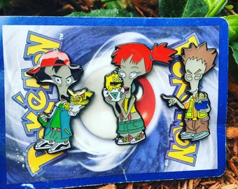 Roger Pokemon Trainer Pin Set (Set of 3)