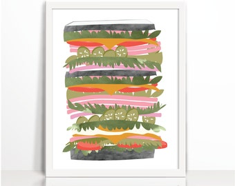 kitchen printable, printable, nursery, kids, food, sandwich, toast, breakfast, receipe