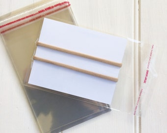 Cello Bags for Headband Packaging Cards - 50 pieces Clear Resealable Cello Bags