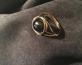 Black and Bronze Ring