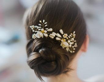 Pearls crystals bridal hair comb wedding comb bridal hair accessory wedding hair comb bridal hair jewelry wedding accessory bridal