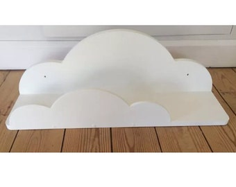 Nursery cloud shelf painted white approx 70cms wide new