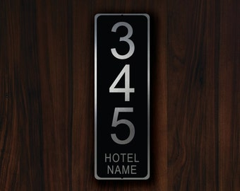 CUSTOM HOTEL ROOM Number Sign, Personalized Hotel Door Number Sign, Customizable Hotel Signs, Hotel Room Number, Hotel Door Number Plaque
