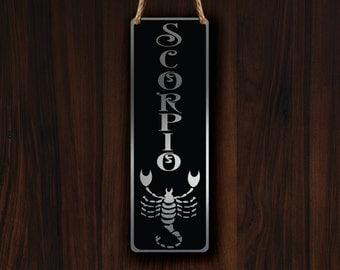 SCORPIO ZODIAC SIGN Wall Art Sign, Scorpio Wall Plaque, Scorpio Hanging Plaque, Scorpio Star Sign, Scorpio Star Sign Art, Zodiac Scorpio