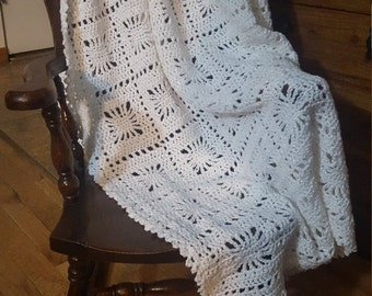 White patchwork afghan