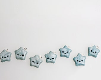 Handmade Polymer Clay Star Charm for Bracelet or Necklace Cute Gift