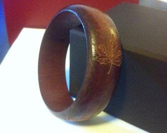 Wooden Bangle Bracelet