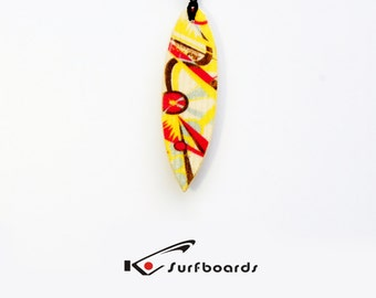 Handmade wood Surfboard summer jewel  wooden Pendants surf