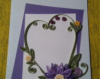 Quilling handmade card
