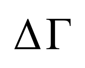 Delta Gamma decal vinyl window bumper Sorority greek letters laptop sticker available in 10 different sizes and 30 different colors