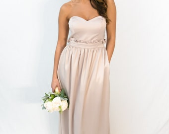 Oliwia Paperbag Waist Pocket Bridesmaid Dress