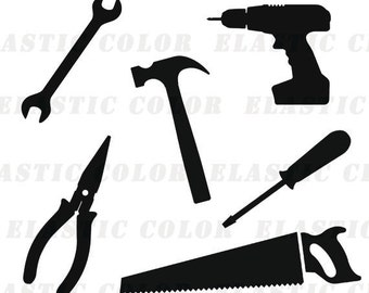 Tools svg  - tools clipart - tool digital download files svg, png, dxf, eps