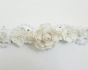 White/ivory flower crown