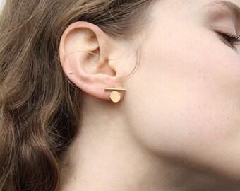 Ear minimalist, geometric, earring jewelry